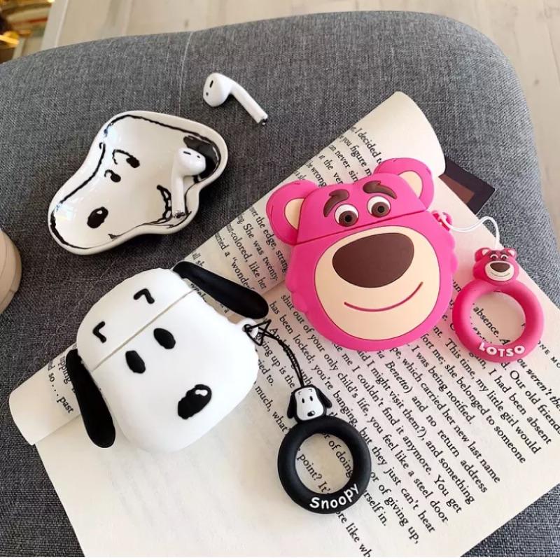 迪士尼卡通 熊抱哥 史努比 蘋果藍芽無線耳機保護套 AirPods矽膠❤️現貨❤️