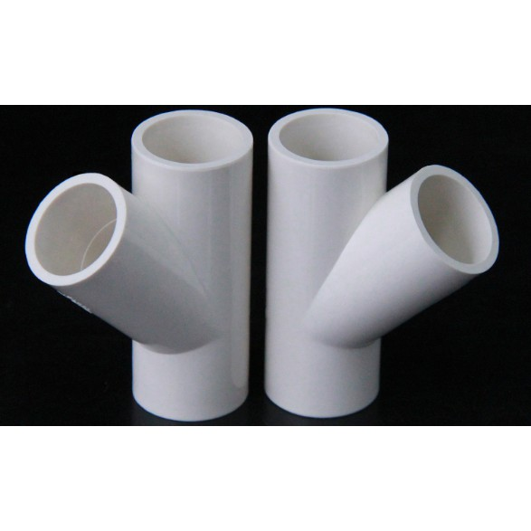 台灣現貨 PVC 白色 斜三通 (4分/6分/1吋/1.2吋/1.5吋)水管接頭/管道配件 魚菜共生 水族 DIY