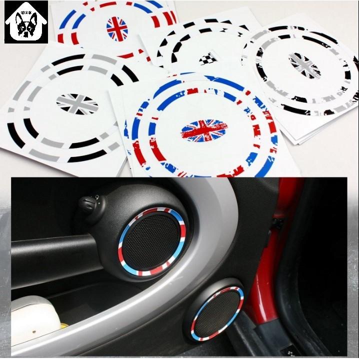啾咪窩~~MINI COOPER 車內內飾貼 、音響圈貼、喇叭圈貼、 裝飾貼紙 共三款