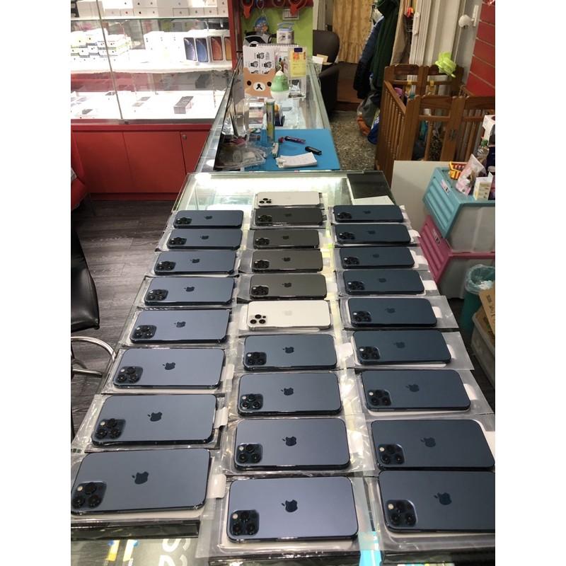 二手9.9新★IPHONE 12 Pro Max 256G 128G 512G 可刷卡分期可無卡分期 舊機可折抵 456
