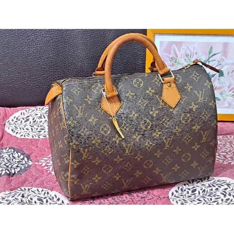 二手/Louis Vuitton/保證LV真品/Speedy 30波頓包