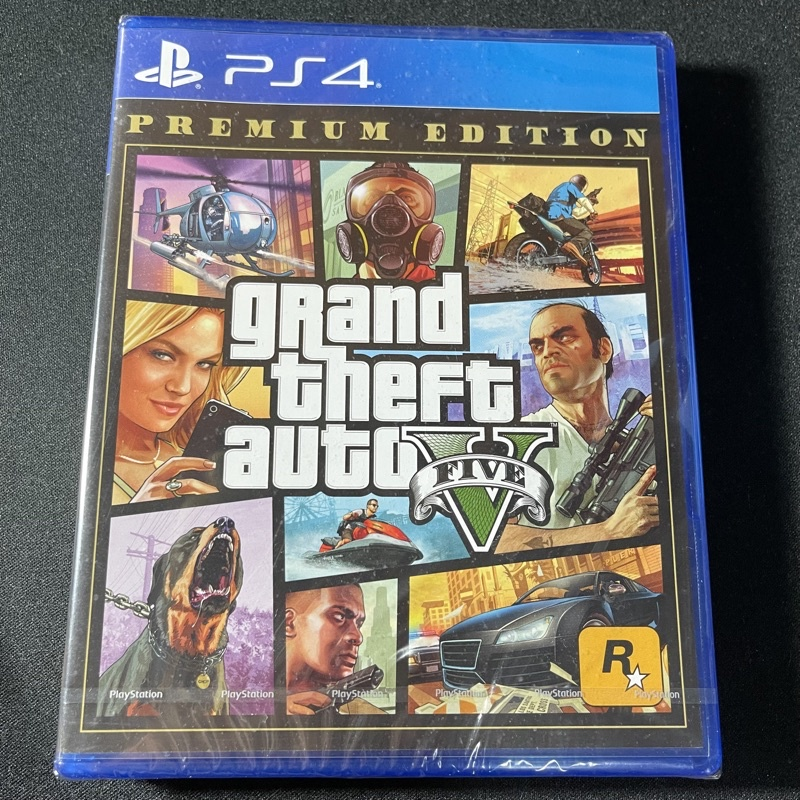 PS4 PlayStation 4 PLUS會員帳號 + GTA5 俠盜獵車手V遊戲片