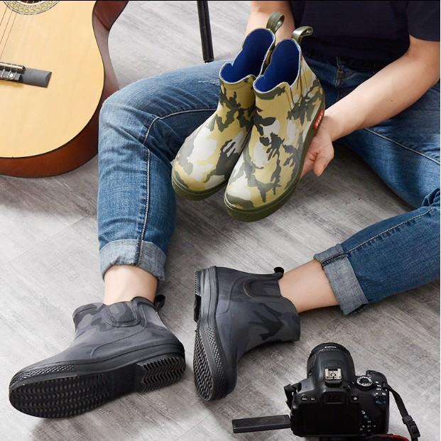 時尚店 韓版時尚雨鞋男潮洗車工防滑防水鞋廚房膠鞋冬季加絨棉短筒雨靴