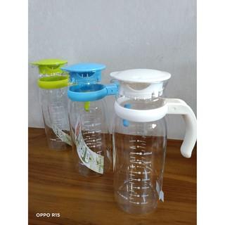 寶馬牌 冷熱兩用水壺1200ml TA-G-CP-1200 白、藍、綠色 水瓶 熱水壺 冷水壺 大容量 耐熱玻璃 玻璃壺 台南市