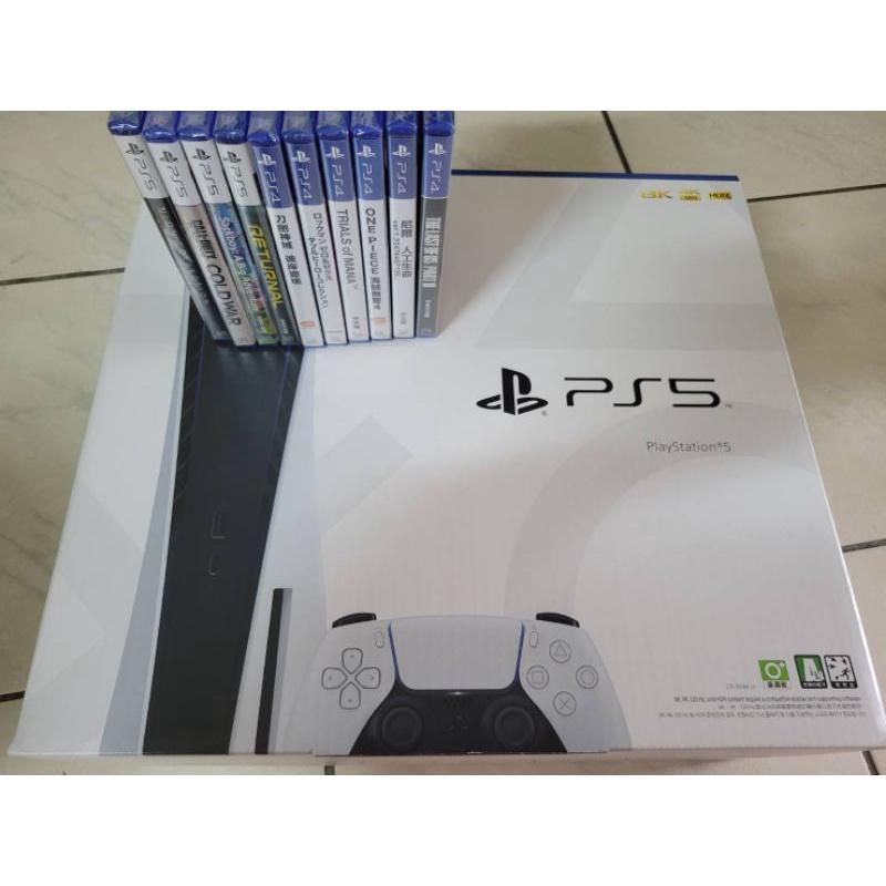 【全新原價禮包】PlayStation PS5 光碟機含10片遊戲 現貨 台中面交