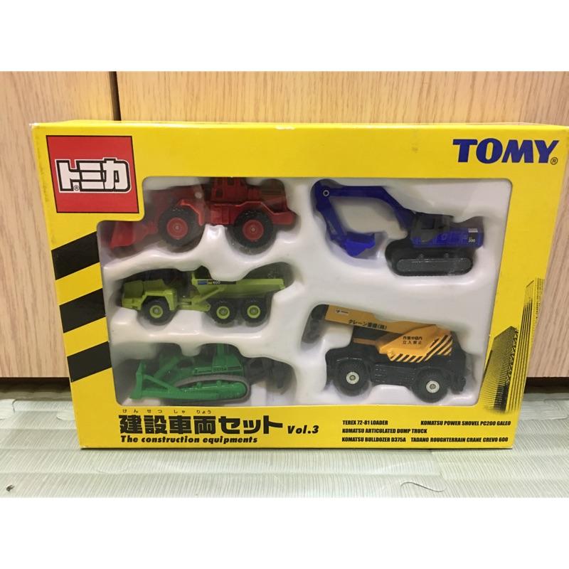 Tomica TOMY 建設車輛 藍標 絕版商品 盒裝 盒組