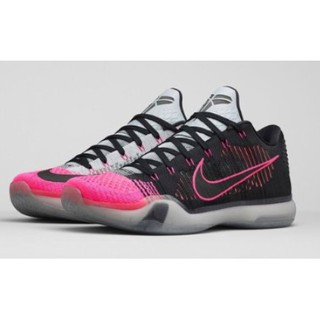Kobe 10 Elite Low Mambacurial 747212-010 編織 黑粉
