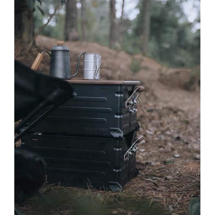 最新款黑色系🚚收納置物箱💮極野嚴選 TNR-025 類Snow Peak UG055 UG025 收納箱 露營 鋁箱