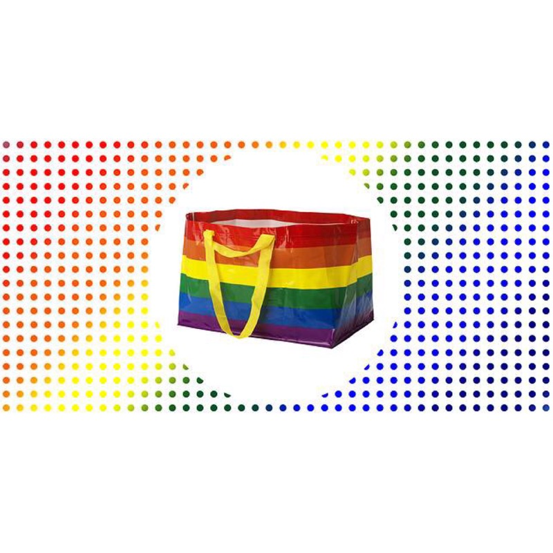 IKEA 宜家 彩虹購物袋