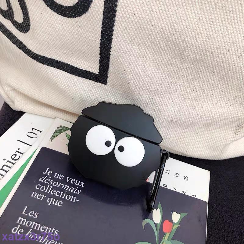 👏黑碳球airpods 1/2 /pro耳機保護套 宮崎駿