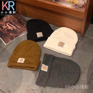 【KR小小清新】carhartt卡哈特 嘻哈潮帽子 男女情侶冷帽INS同款 針織帽經典保暖毛線帽工裝帽子 桃園市