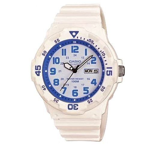 【CASIO】潛水設計運動指針錶-白X水藍(MRW-200HC-7B2)正版宏崑公司貨
