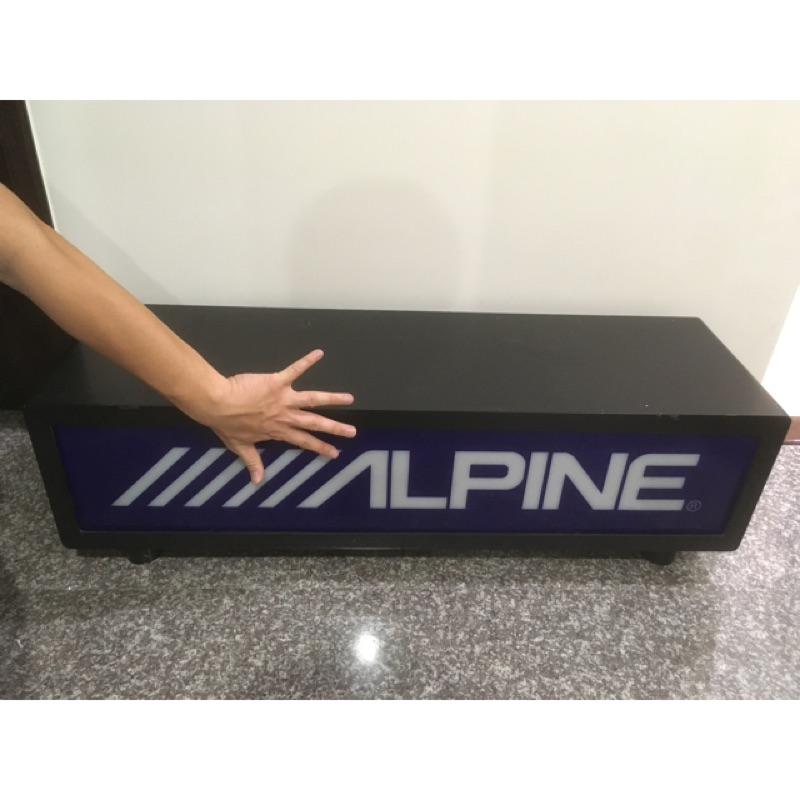 [買即送高音]ALPINE 燈箱 招牌 木頭材質 壓克力板