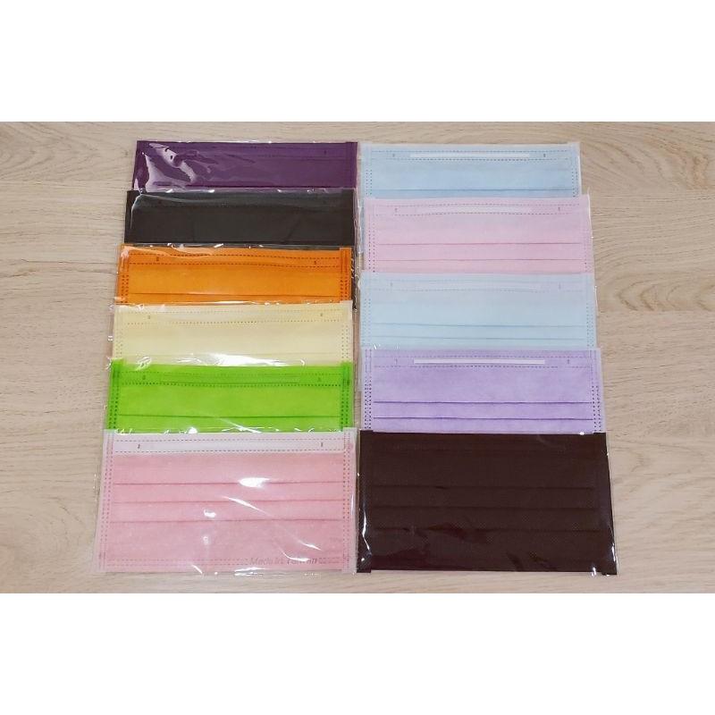 防塵口罩口罩OPP自黏袋-萊潔適用(牛仔丹寧玫瑰粉、金屬藍、夜霓紫、蜜粉黃、薰衣草紫、軍墨綠、淡澄橘、黑曜石)