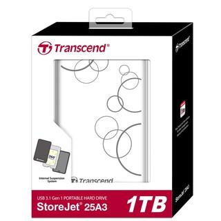 【衝評價】創見 StoreJet 25A3 白色 1T USB3.1 2.5吋隨身硬碟 行動硬碟 懸吊防震 A3W 臺北市