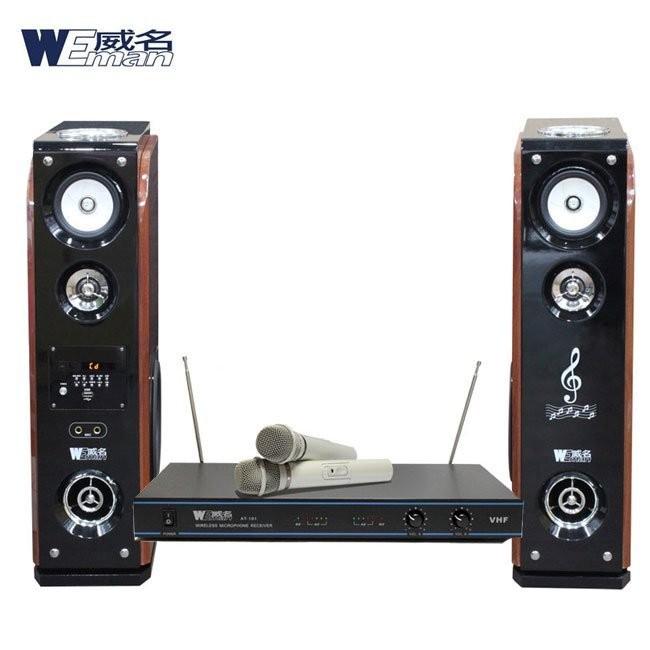 【WEMAN威名】 主動式RMVB/USB多媒體卡拉OK歡唱組(WLS-358P+AT-101)