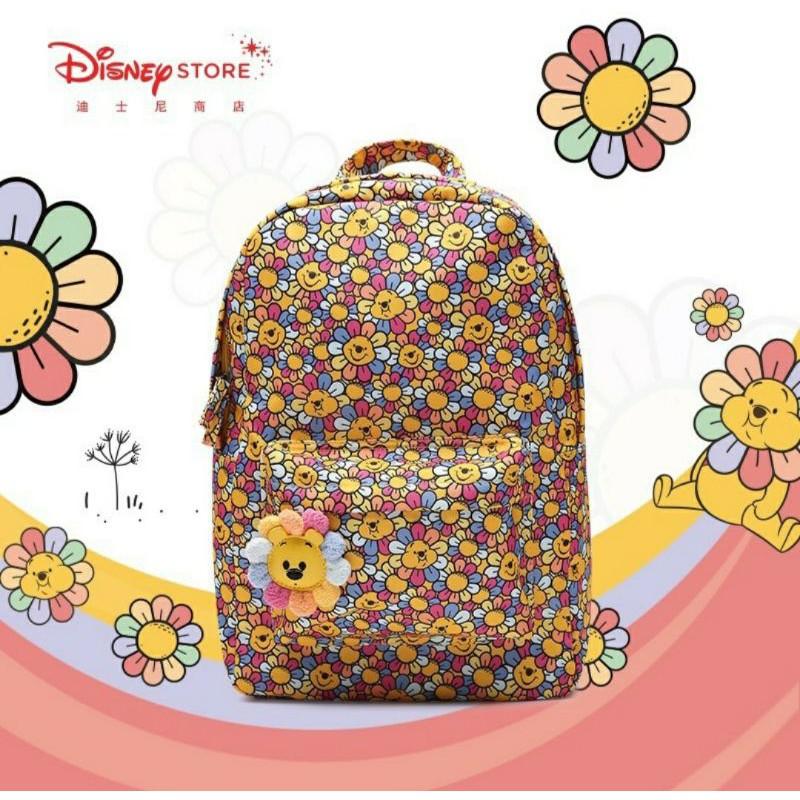 上海迪士尼商店 太陽花維尼 雙肩後背包