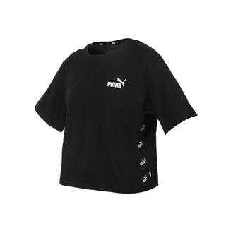 PUMA 女基本系列短版短袖T恤(純棉 休閒上衣 慢跑 路跑 亞規 黑白 58659701 桃園市