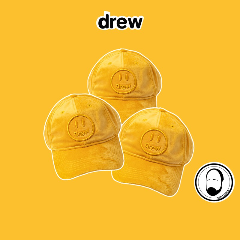 代購 DREW HOUSE JUSTIN 賈斯汀比伯同款笑臉刺繡金絲燈芯絨鴨舌棒球帽 遮陽帽