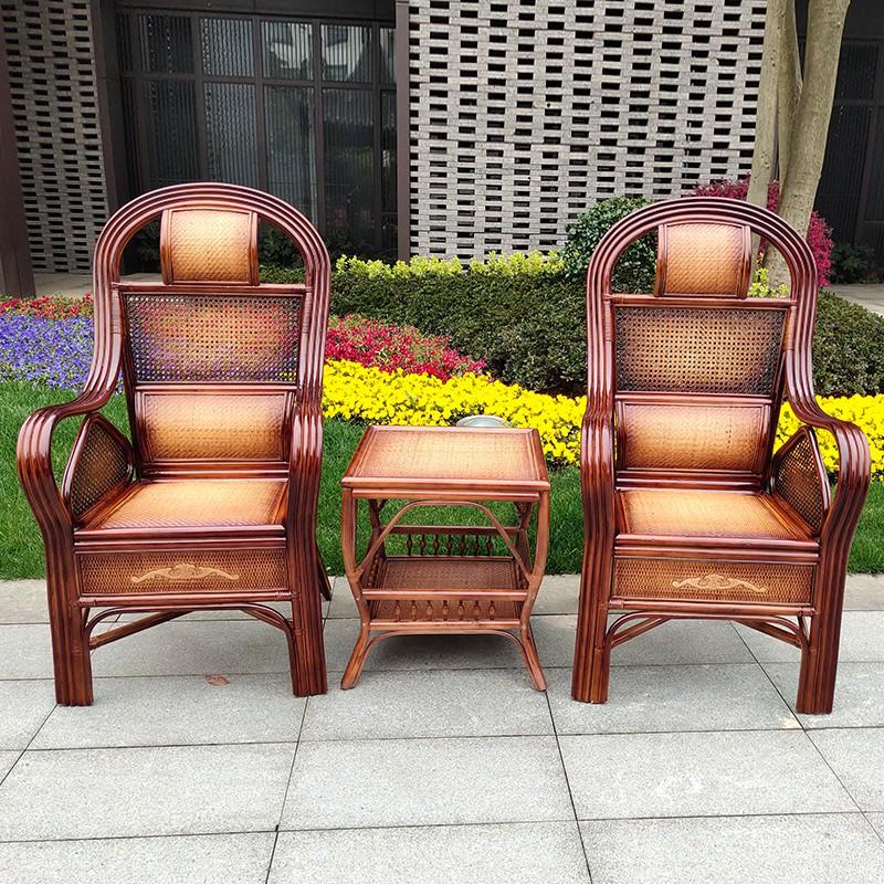 木椅 辦公椅 餐桌椅 餐椅 書桌椅 化妝椅 實木餐椅 北歐椅子 書房木椅 靠背椅 藤椅三件套單件真藤椅子休閒藤椅辦公椅