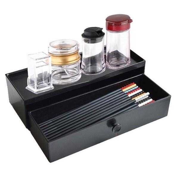 日式筷子盒抽屜抽拉筷子筒帶蓋筷子架餐具收納盒韓式塑膠快籠