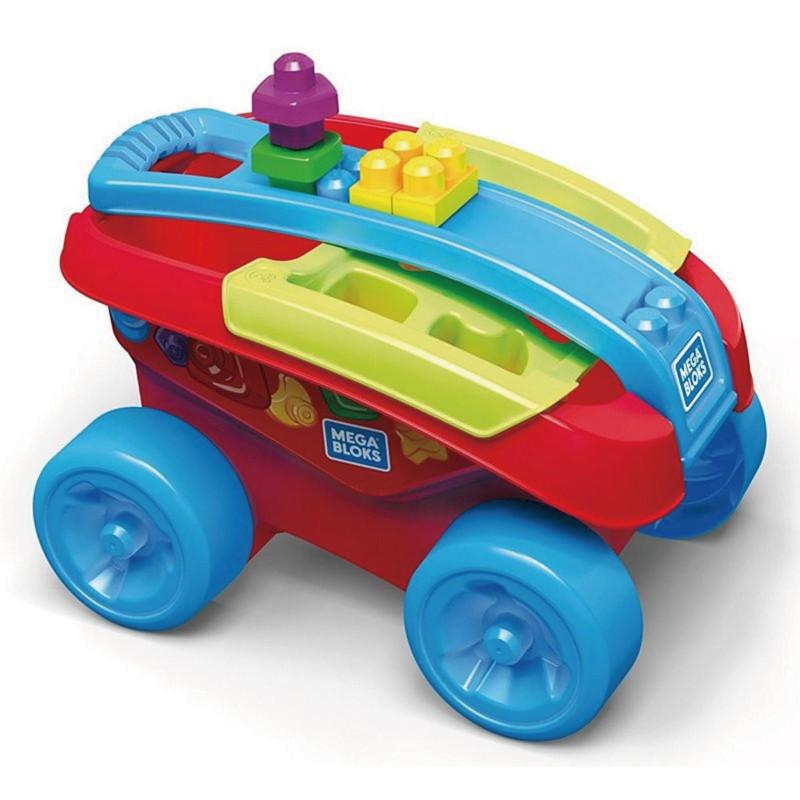 MEGA BLOKS 美高積木形狀分類收納拖車 玩具反斗城