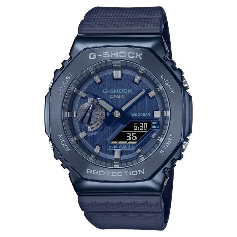 Casio G-Shock 卡西歐 農家橡樹 軍藍 深藍 鋼圈 手錶 男錶 機械錶 官網正貨 GM-2100N-2A