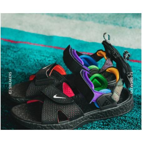 現貨 NIKE ACG AIR DESCHUTZ BETRUE 涼鞋 彩虹 刺繡 黑色 CU9189-900