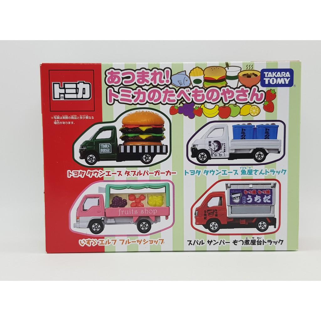 【小車停車場】TOMICA 食物 餐車 漢堡 魚屋 屋台 水果 盒組 未拆