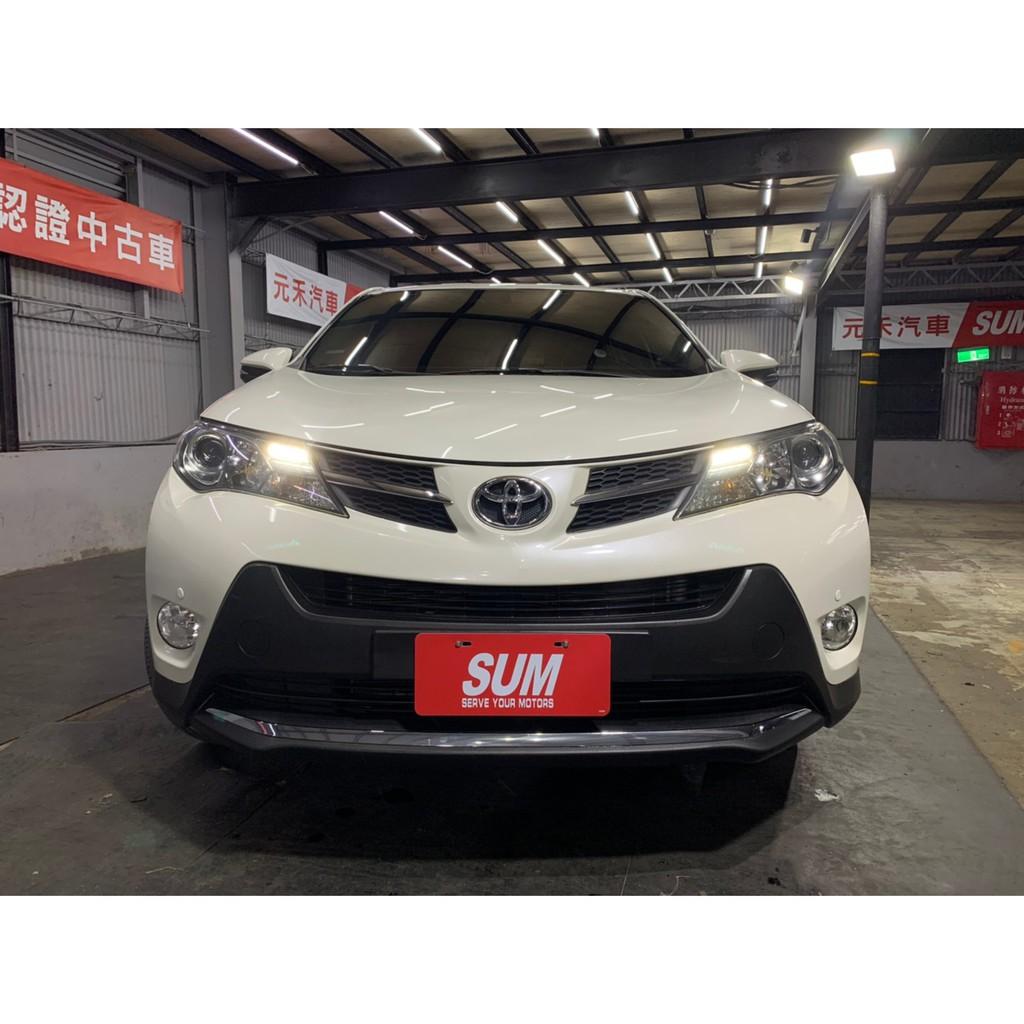 正2014 Toyota RAV4 2.0 頂級版超貸 找錢 實車實價 全額貸 一手車 女用車 非自售 里程保證 原版件