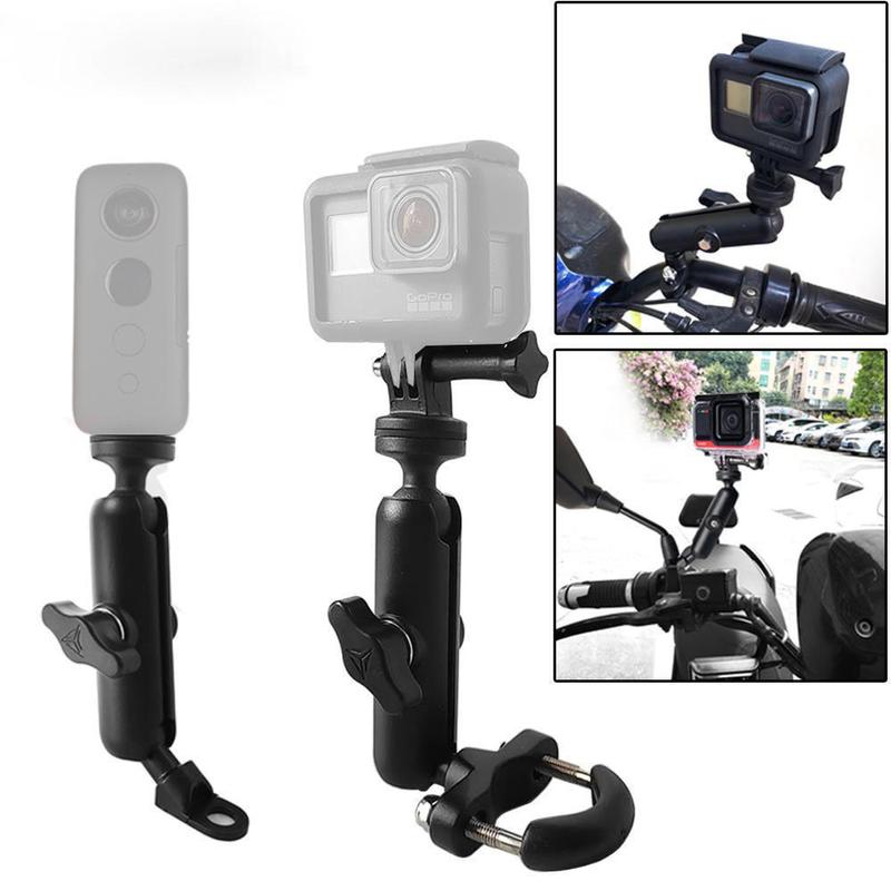 用於 Gopro Hero98765 Insta 360 相機配件的摩托車自行車相機支架車把後視鏡安裝支架 1 / 4