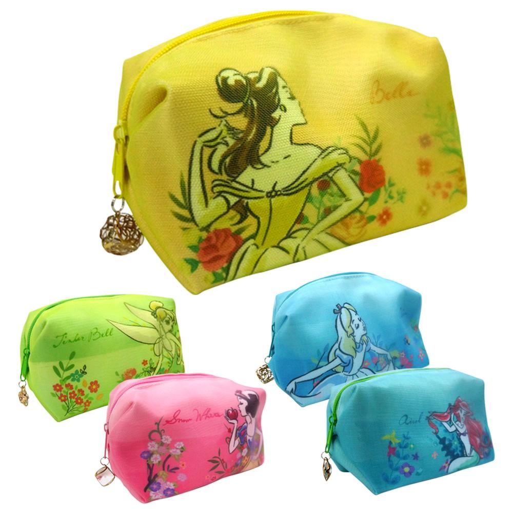 [迪士尼] 公主網紗化妝包 五款任選【5ip8】小美人魚/愛麗兒/白雪公主/貝兒/愛麗絲/小叮噹