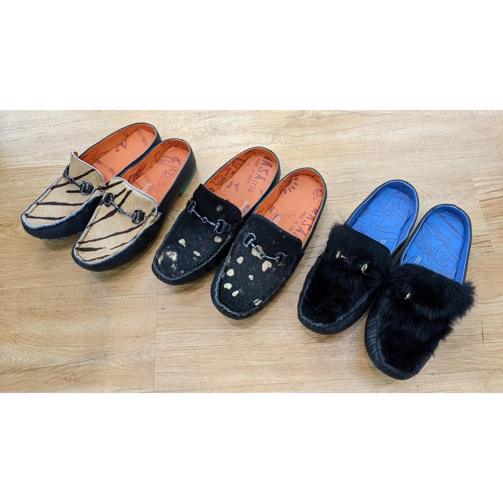 [鸚鵡鞋鋪]MACANNA麥坎納 出清特賣保證正品 平底毛質豆豆鞋