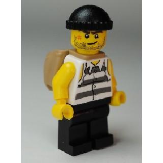樂高人偶王 LEGO 經典城市人偶/囚犯#10675 jail005