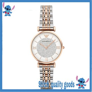 ARMANI 阿瑪尼 女士手錶 經典時尚手錶 石英手錶 滿天星镶钻潮流鋼帶 簡約手錶 AR1926 桃園市