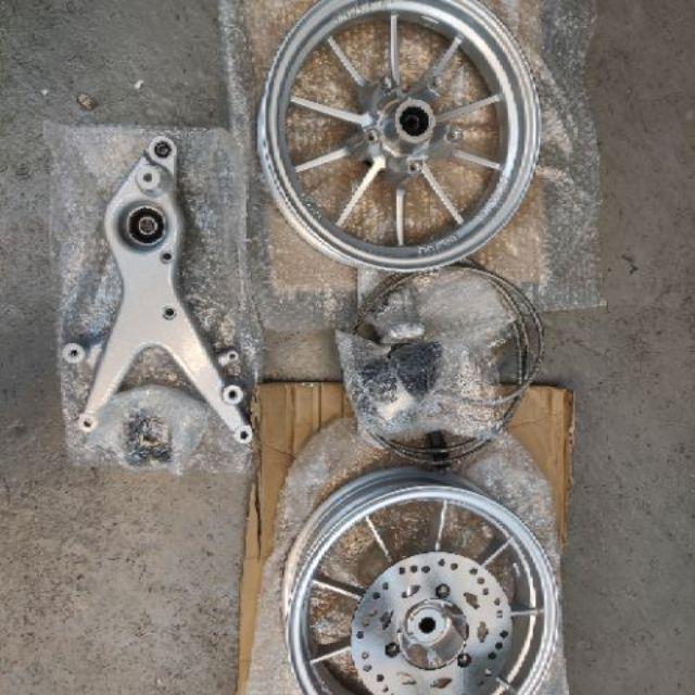 1/2/3代勁戰改後碟直上套件『免修改』RPM輪框 後碟
