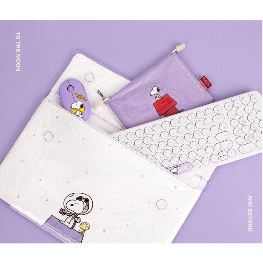 預購 韓國 無線滑鼠 鍵盤 筆電 收納袋 史努比 WOODSTOCK 糊塗塌客 SNOOPY 袋子 化妝包