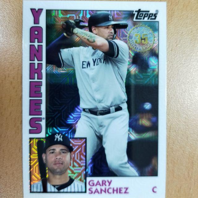 2019 Topps Update '84 銀包閃亮特卡-紐約洋基隊 Gary Sanchez