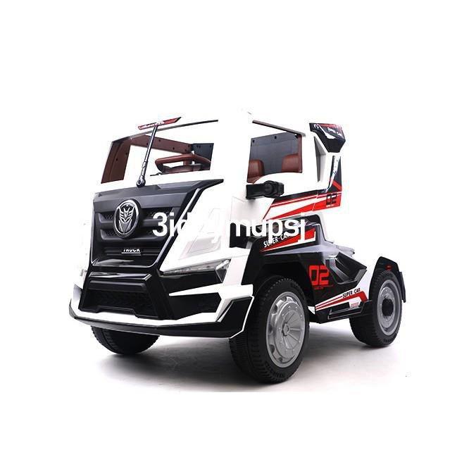 精選好物🛒YL居巨無霸卡車頭 雙驅兒童電動車 白色 不含拖斗