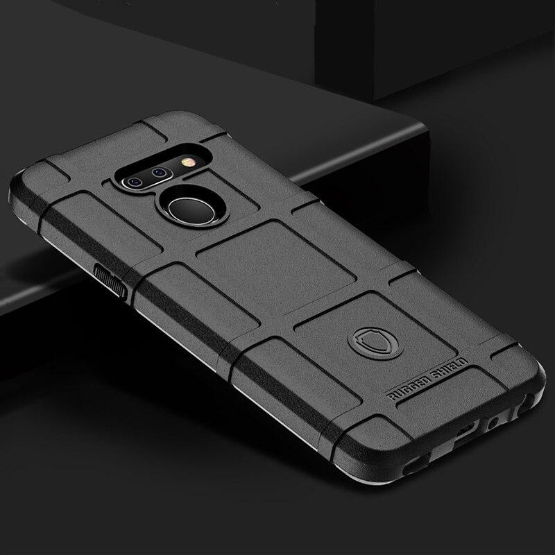 Lg G8 G8S Thinq 手機殼裝甲堅固的屏蔽軍用矽膠保護套 Lg G8X V50S 手機殼