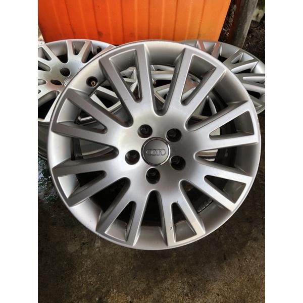 Audi 5孔112、5/112原廠17吋鋁圈 A4 A6 四顆鋁圈$5000