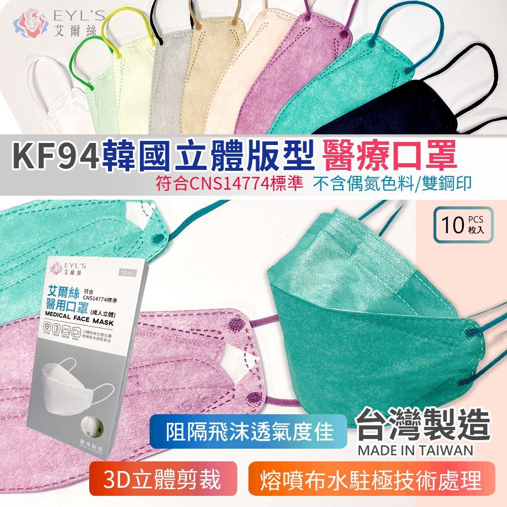3D醫療立體口罩【台灣製】【10入】KZ0031▸韓國立體口罩▸立體成人口罩▸立體口罩▸KF口罩▸3D醫療口罩▸KF94