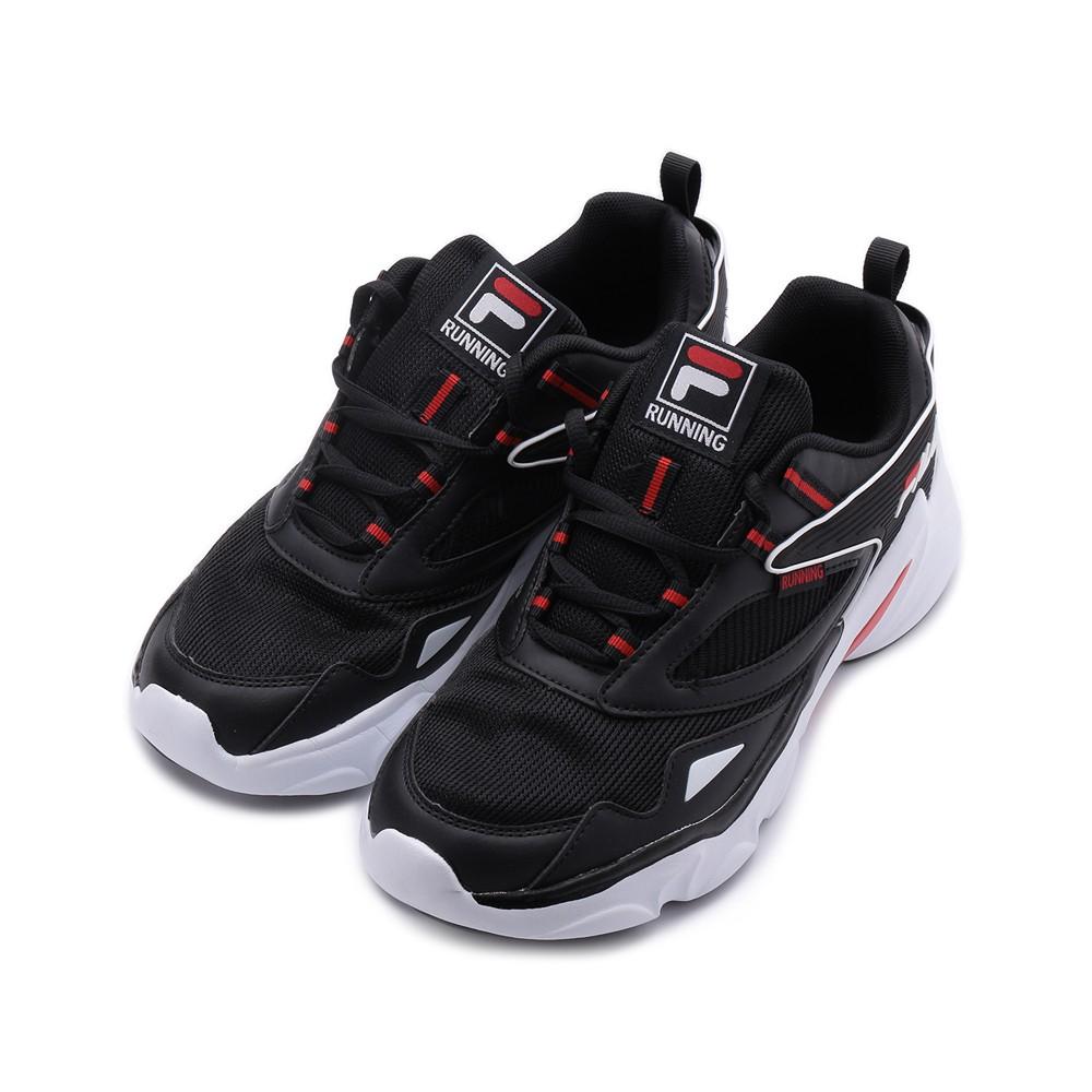 FILA 復古鏤空老爹鞋 黑 1-J325V-001 男鞋