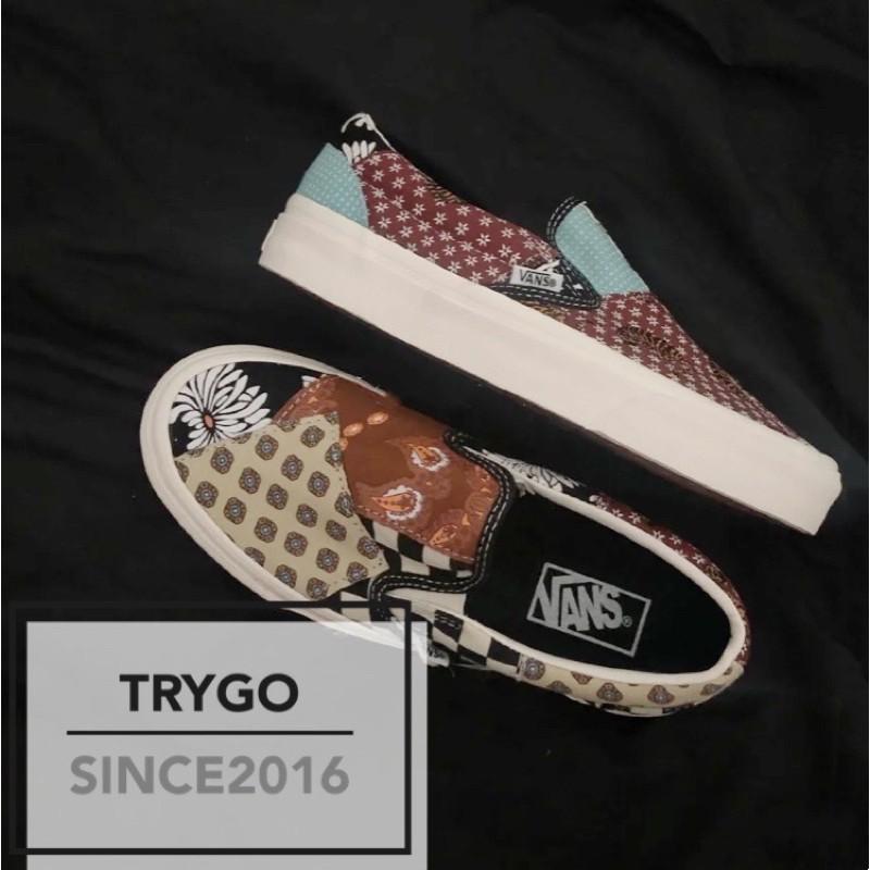 「TRYGO」VANS TIGER PATCHWORK SLIP-ON 腰果花
