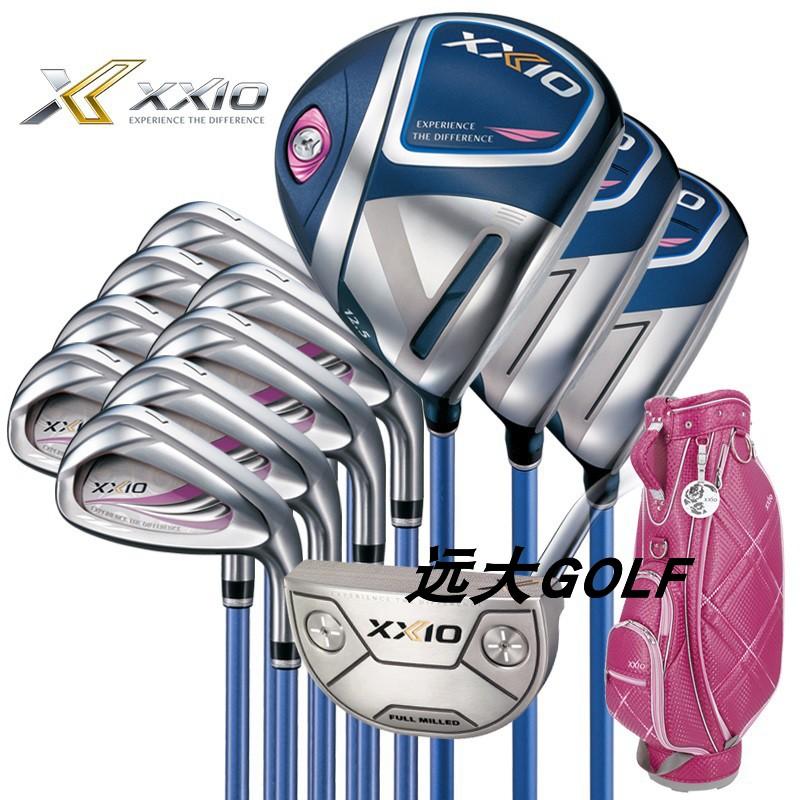 """【高爾夫球桿】""""休閒運動""""XXIO高爾夫球桿XX10 MP1100男女士套桿鈦合金碳素鋼全套波爾多紅"""