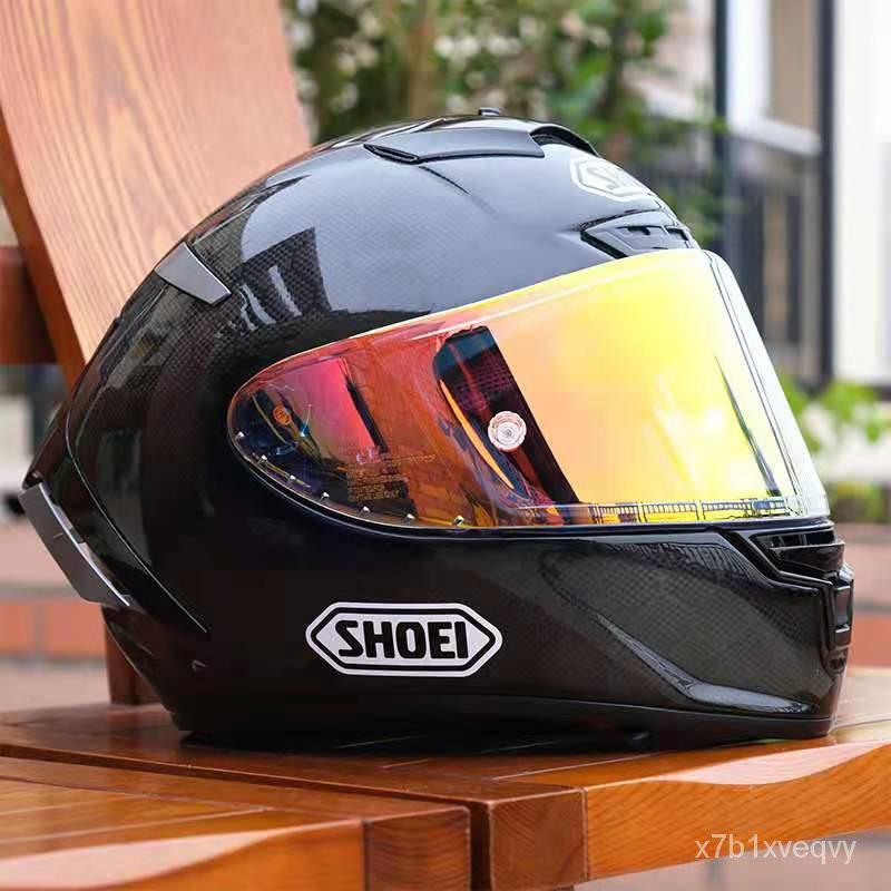 MoTo 摩托車SHOEI頭盔全盔X14碳纖維招財貓紅螞蟻復古馬奎斯機車男四季
