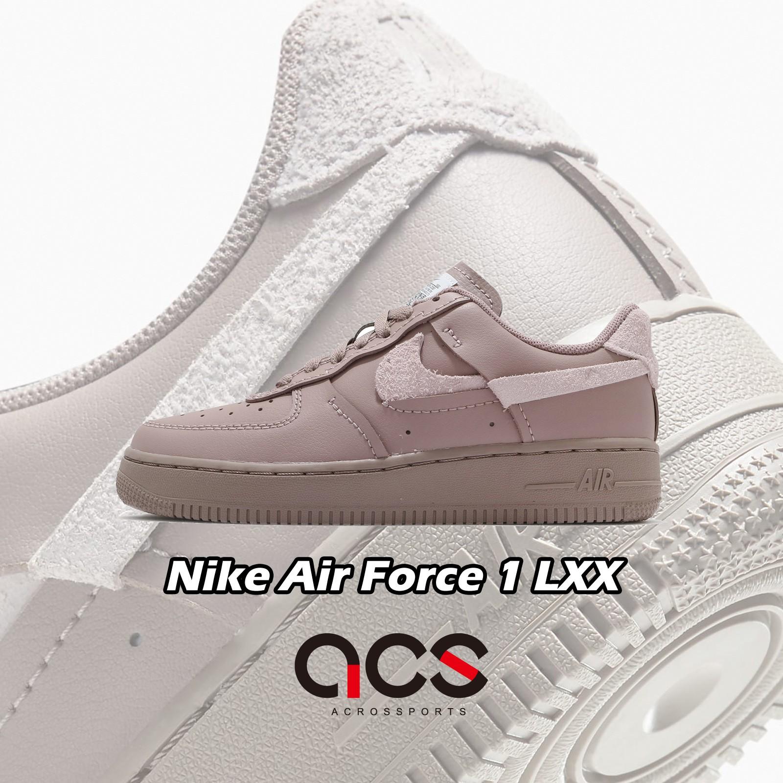 Nike 休閒鞋 Wmns AF1 LXX Air Force 1 灰 麂皮 斷勾 女鞋【ACS】 DH3869-200