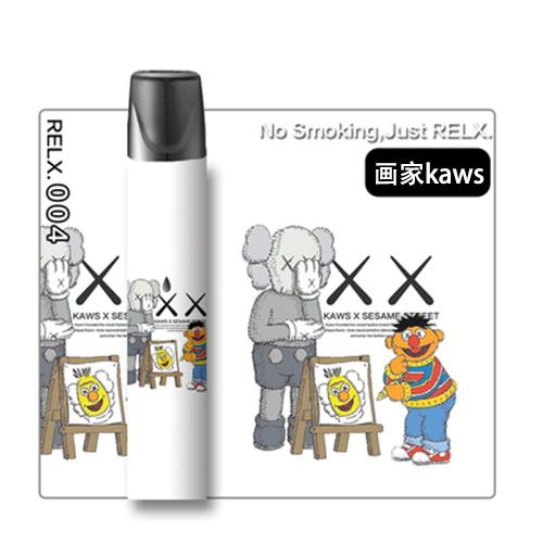 《現貨可批發》悅刻relx煙桿貼紙 RELX悅刻主機1代貼膜 銳克卡通情侶少女可愛個性防刮裝飾防水貼紙收納
