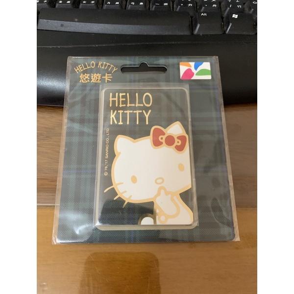 限量全新絕版HELLO KITTY格紋悠遊卡普通卡