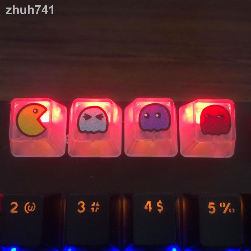 ✨新品 個性機械鍵盤帽 單四顆 鍵帽OEM高度esc透明表情F123方形游戲透光 鍵盤鍵帽鍵帽 個性鍵帽鍵盤